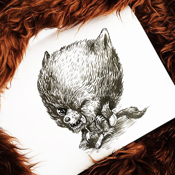 baby-terrors-iconic-horror-monsters-illustrations-alex-solis-13