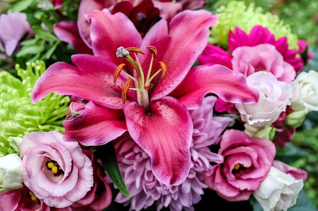 krásné kytice v Brně